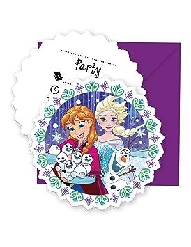 COOLMP - Lote de 12 Invitaciones + Sobres Frozen - Talla ...