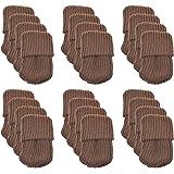 24pcs Knitting Wool Furniture Socks - Chair Leg Floor Protector Pads (Coffee)