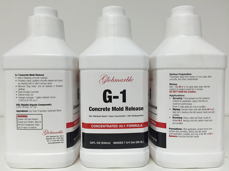 Amazon.com : Concrete Mold Release. G-1. Concrete Form Release ...