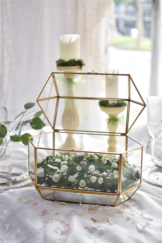 Kartenbox Hochzeit Glas.Ncyp Grosse Geometrische Glas Hochzeit Karte Box Amazon De
