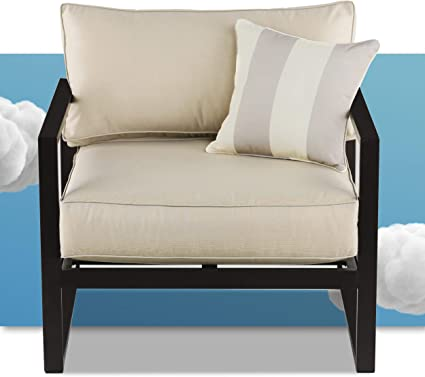 Amazon Com Serta Catalina Modern Outdoor Patio Furniture Collection With Bronze Metal Frame Finish Arm Chair Garden Outdoor