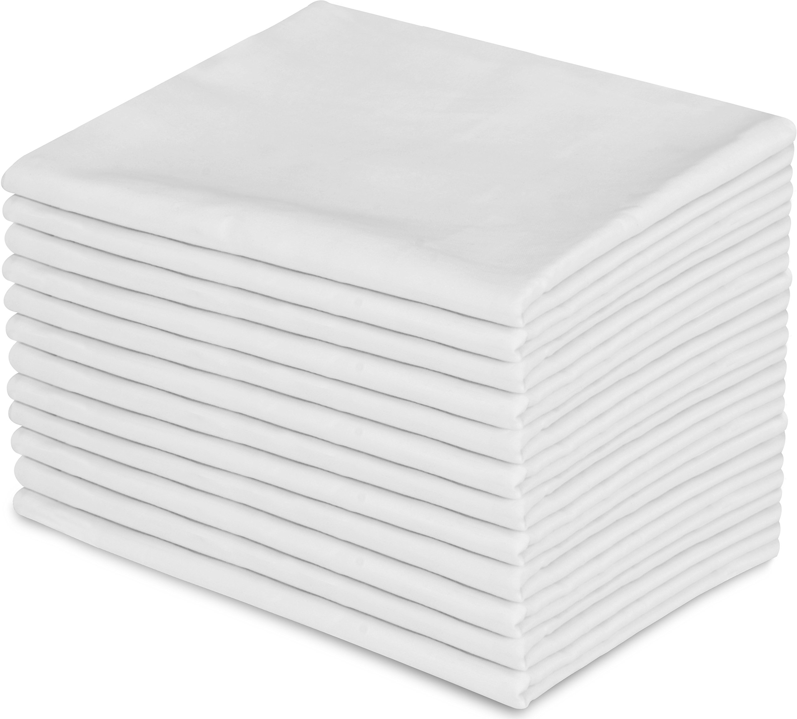 Utopia Bedding 12 Pillowcases - Queen White - Brushed Microfiber - Maximum Softness - Elegant Double-Stitched Tailoring - Reduces Allergies and Respiratory Irritation - Set of Dozen Pillowcases