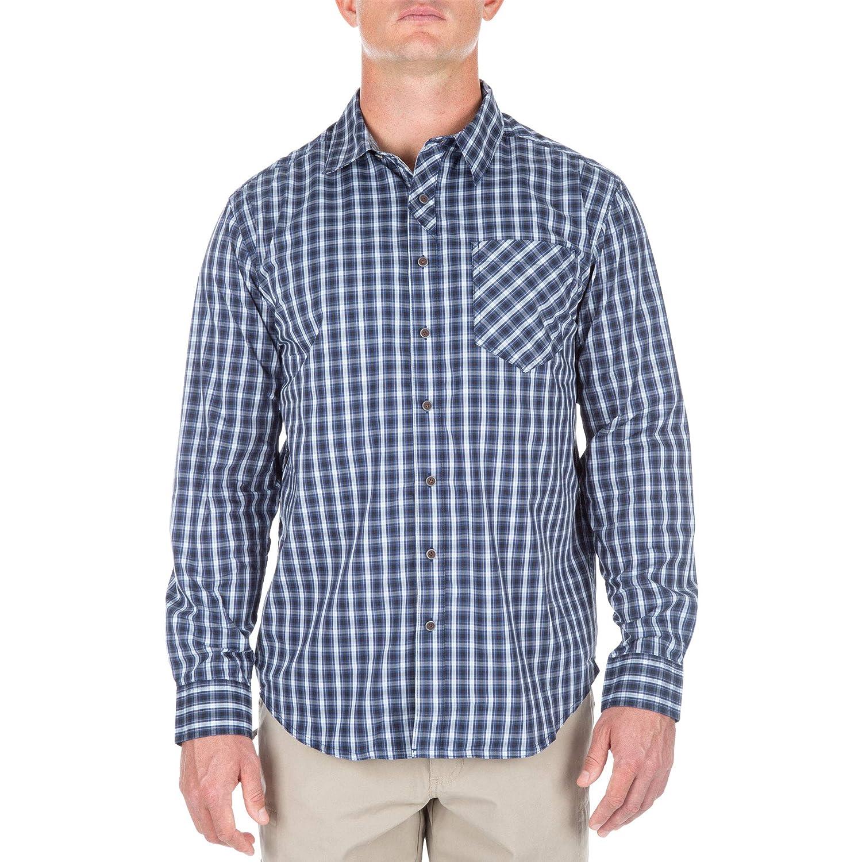 Style 72428 Moisture Wicking Button-Up 5.11 Tactical Mens Covert Flex Long Sleeve Shirt
