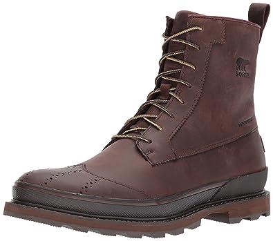 Sorel Shoes Madson Wingtip Boot - Madder Brown, 8 UK