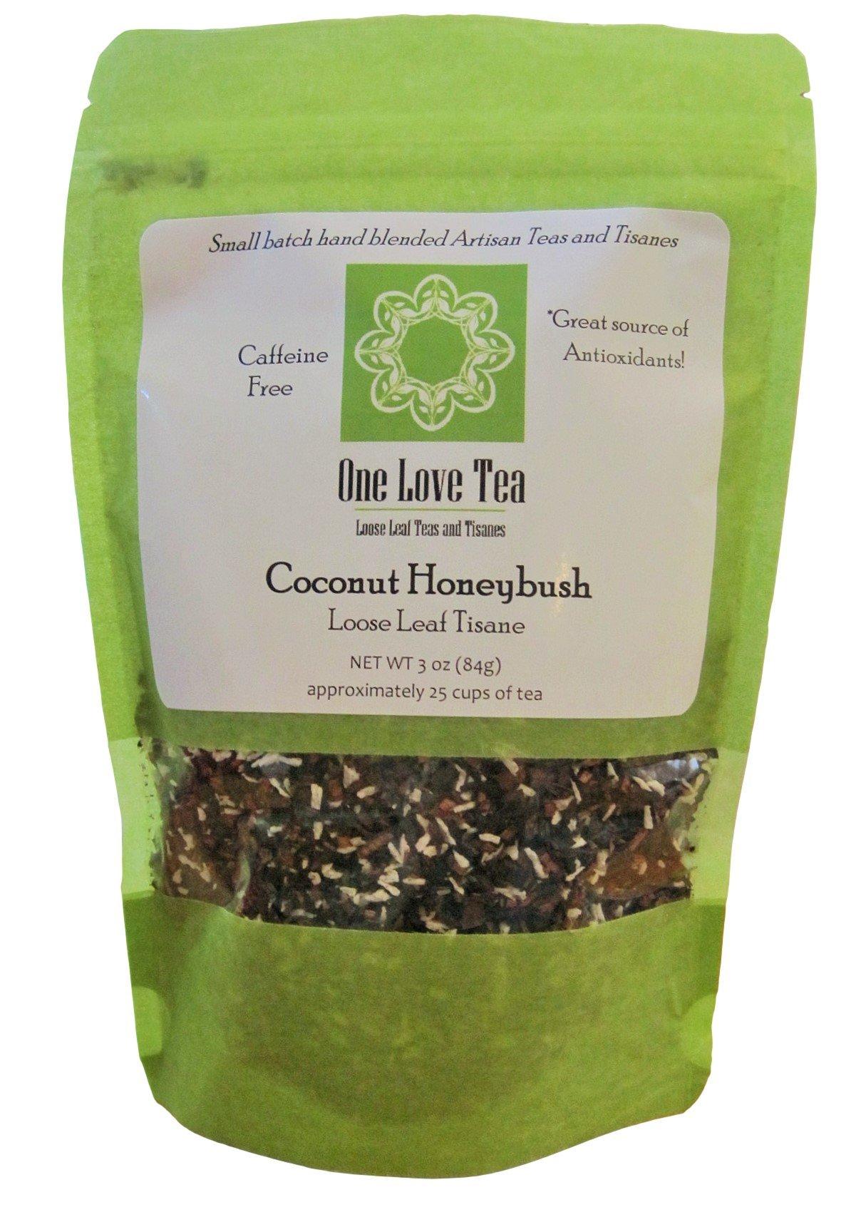 One Love Tea - Coconut Honeybush - 3 Oz Loose Leaf Herbal Tisane