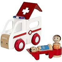 4-Piece Brio World My Home Town Ambulance Toy With Light & Sound