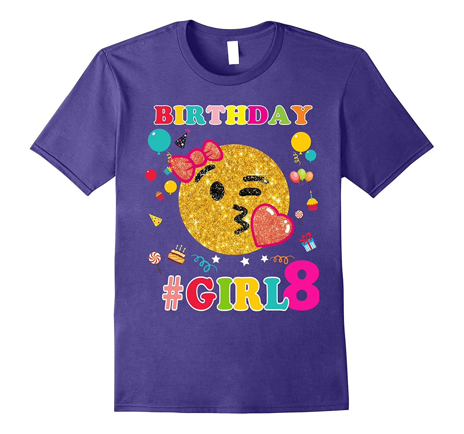 8th Birthday Girl Shirt Emoji Birthday-Art