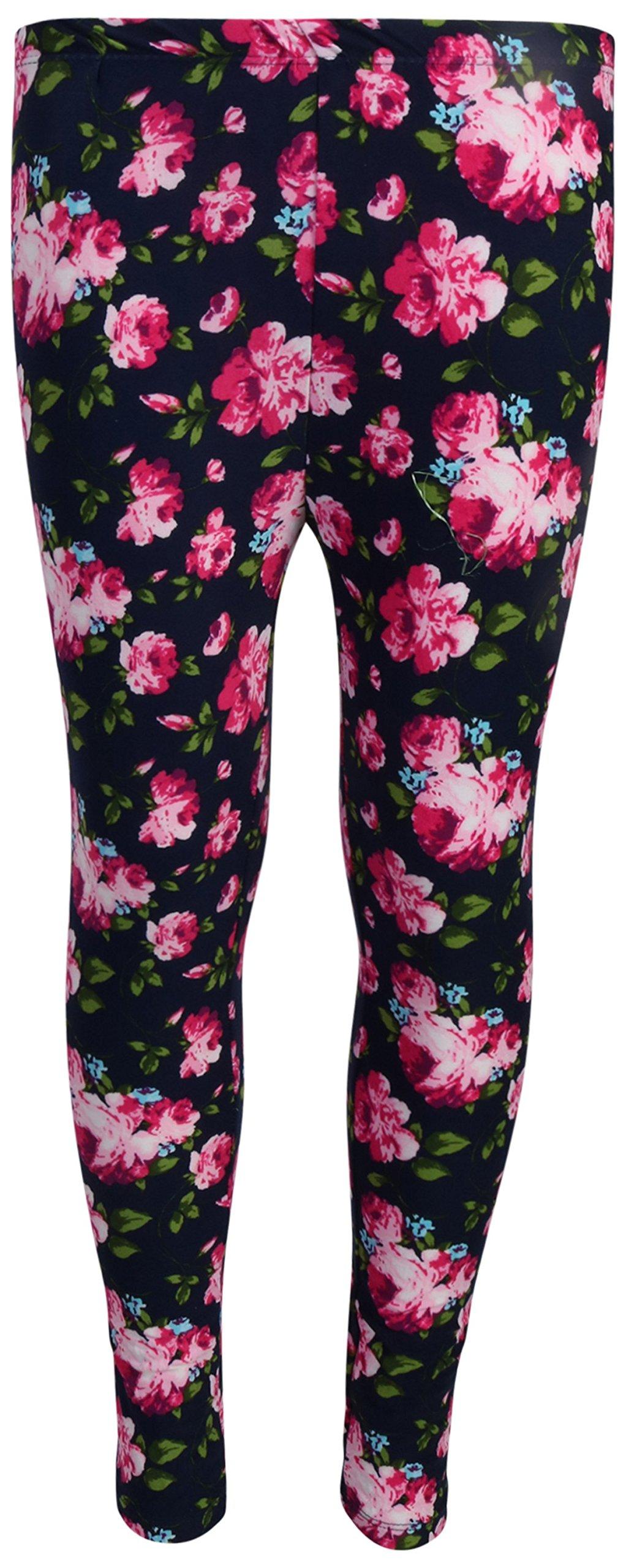 dELiA*s 'dELiAs 4 Pack Girl's Basic Yummy Active Leggings, Navy Flower/Diamond, Size 7/8' by dELiA*s (Image #5)