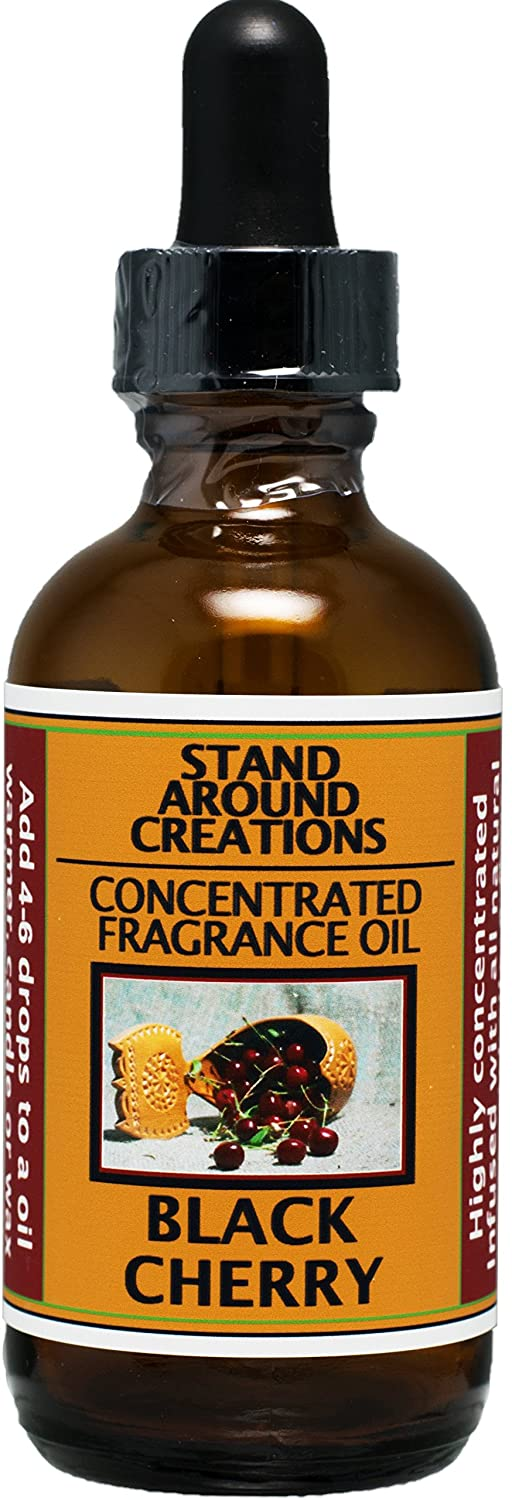 Concentrated Fragrance Oil - Scent - Black Cherry: A sweet blend of rich ripe cherries. Infused w/essential oil. (2 fl.oz.)