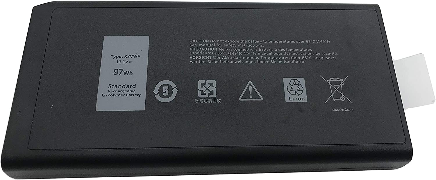 Aluo11.1V97Wh X8VWF New Laptop Battery for Dell Latitude 14 Rugged 5404 5414 E5404 Extreme 7404 7414 E7404 Series CJ2K1 VCWGN 0VCWGN YGV51 453-BBBE