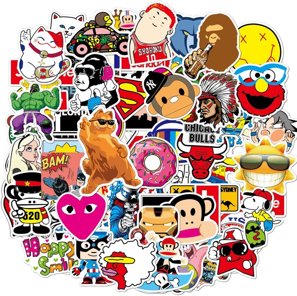 Cute Vsco Vinyl Stickers for Kids Hydroflasks Water Bottles 100 Pcs Aesthetic Trendy Kawaii Stickers Vinyl Wall Decals for Laptop Helmet Car Bumper Luggage Skateboard for Teens Boys Girls Kids