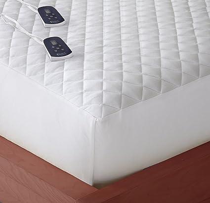 Amazon Com Thermee Micro Flannel Electric Mattress Pad White