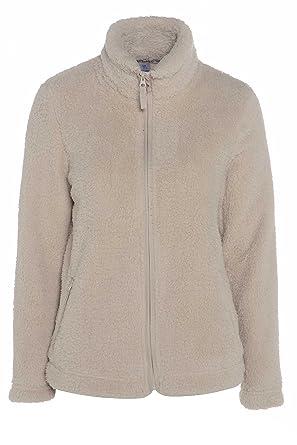 063bb62e066 Marks   Spencer Fleece Cardigans Ladies Jacket Cream  Amazon.co.uk ...