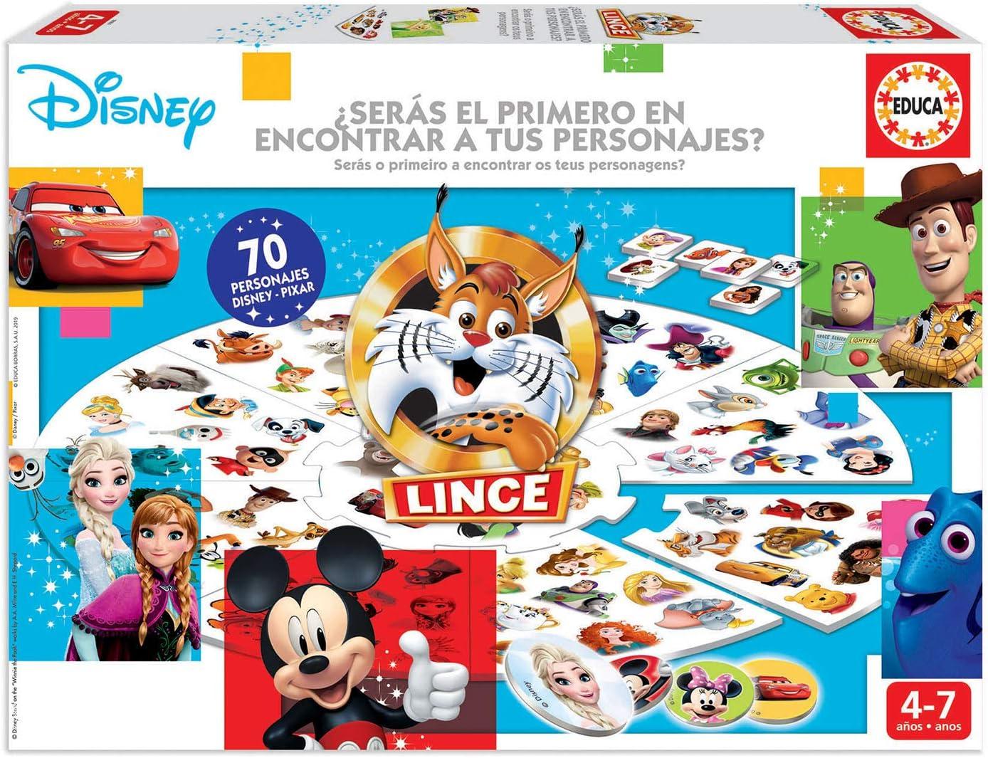 Educa Borrás-El Lince Edición 70 imágenes de Personajes Disney, a ...