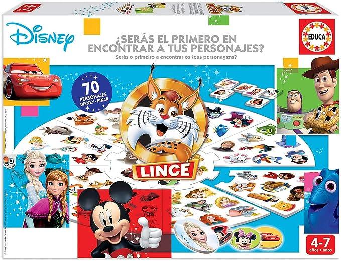 Educa Borrás-El Lince Edición 70 imágenes de personajes Disney, a partir de 4 años, color variado, Talla Única (18351) , color/modelo surtido: Amazon.es: Juguetes y juegos