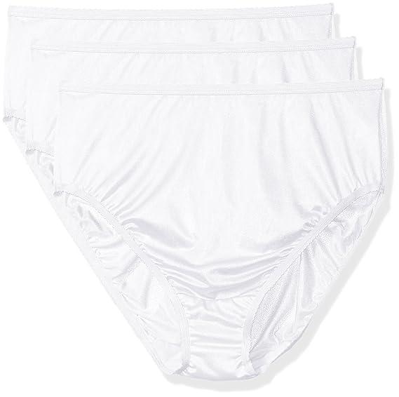 7274d4f94a7 Shadowline Women s Plus-Size Panties-Hi Cut Nylon Brief (3 Pack) at Amazon  Women s Clothing store