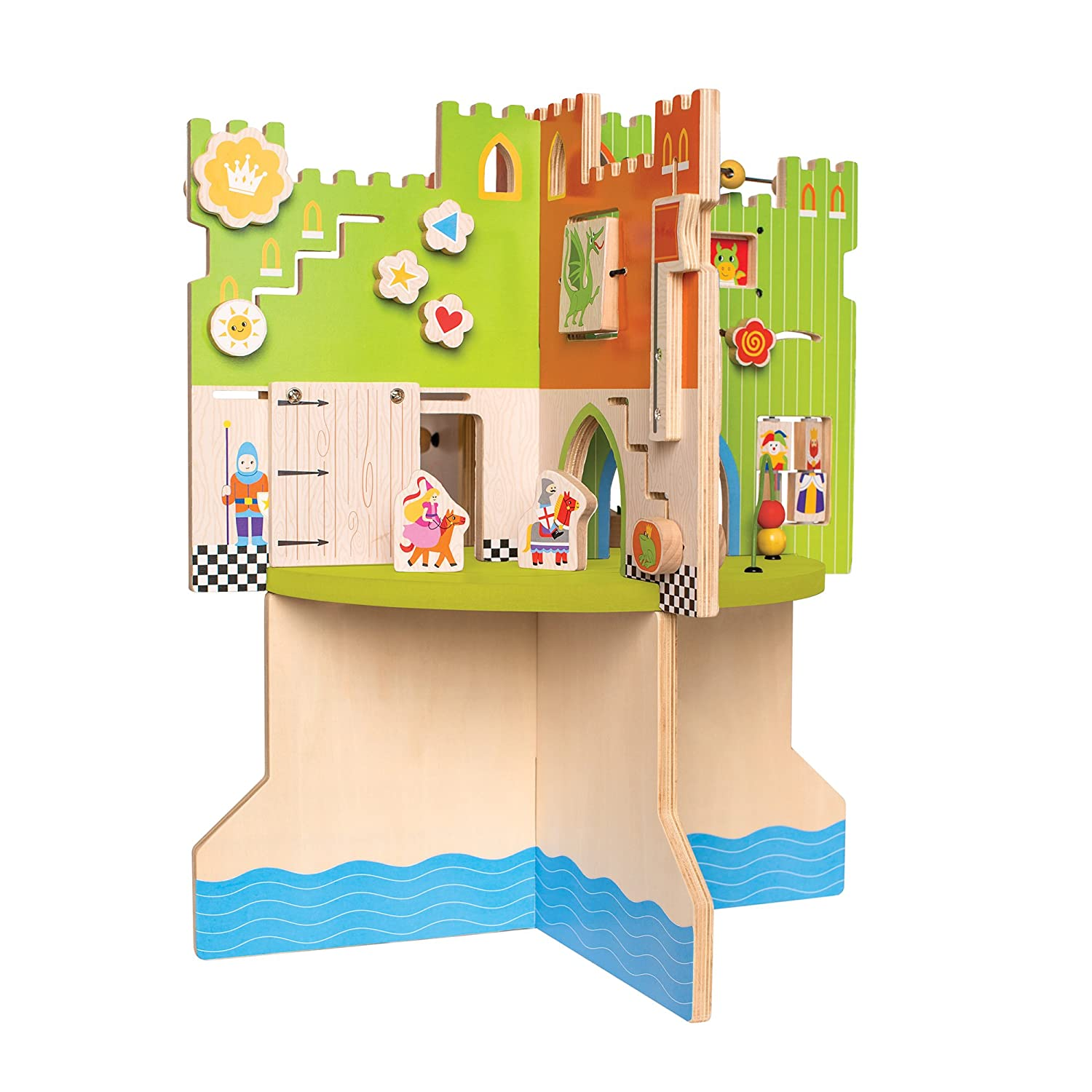amazoncom manhattan toy storybook castle wooden toddler activity center toys games