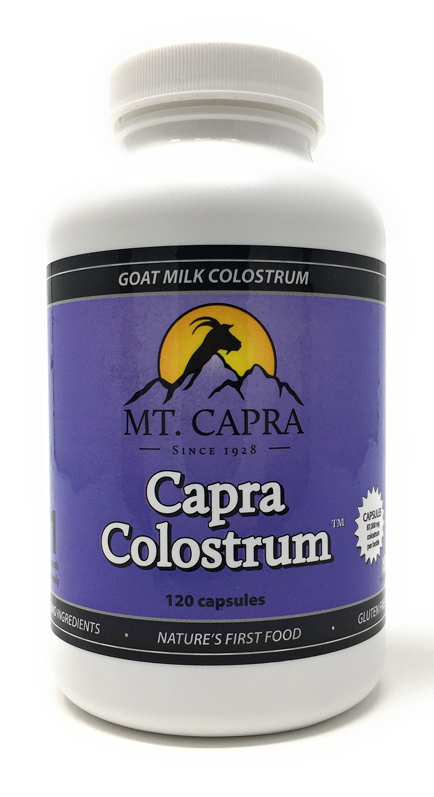 MT. CAPRA SINCE 1928 CapraColostrum | Goat Milk Colostrum for Healthy Immune System, Gut, and Athletic Performance, Grass-Fed, High in Immunoglobulins - 120 Capsules (2900 mg per Serving) by MT. CAPRA SINCE 1928