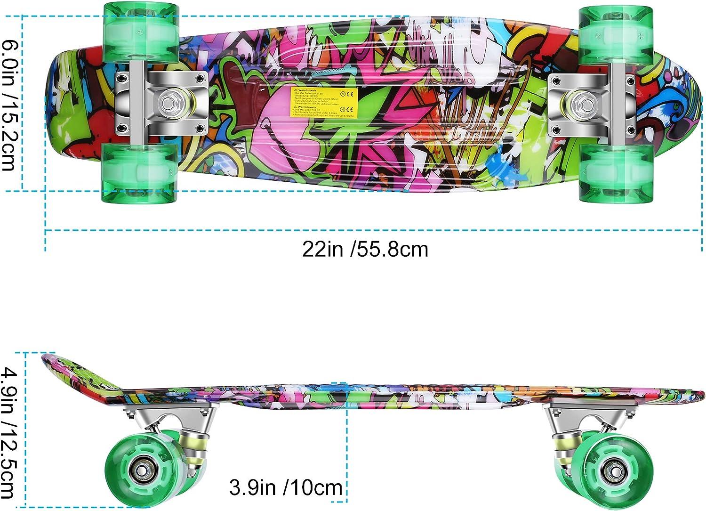 WeSkate Complete Mini Cruiser Skateboard - 3