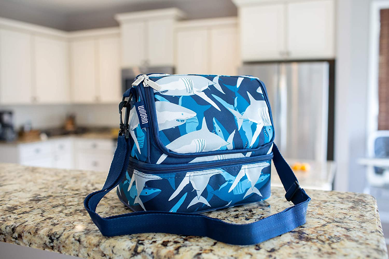 Wildkin Aqua Dots tela Bolsa de almuerzo infantil con compartimento doble 23 x 16 x 21 cm
