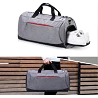 Gym Bag with Shoes Compartment,Sports Bag with Waterproof Pocket for Wet Towels,Travel Duffel Bag for Men and Women