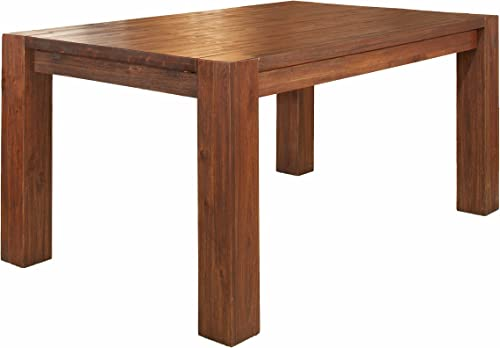 Modus Furniture Meadow Solid Wood Extending Dining Table, Brick Brown