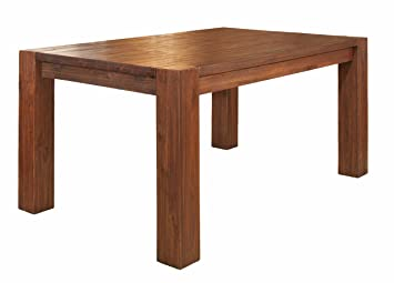 Exceptional Modus Furniture 3F4161 Meadow Solid Wood Extending Dining Table, Brick Brown