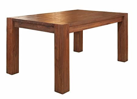 Modus Furniture 3F4161 Meadow Solid Wood Extending Dining Table, Brick Brown