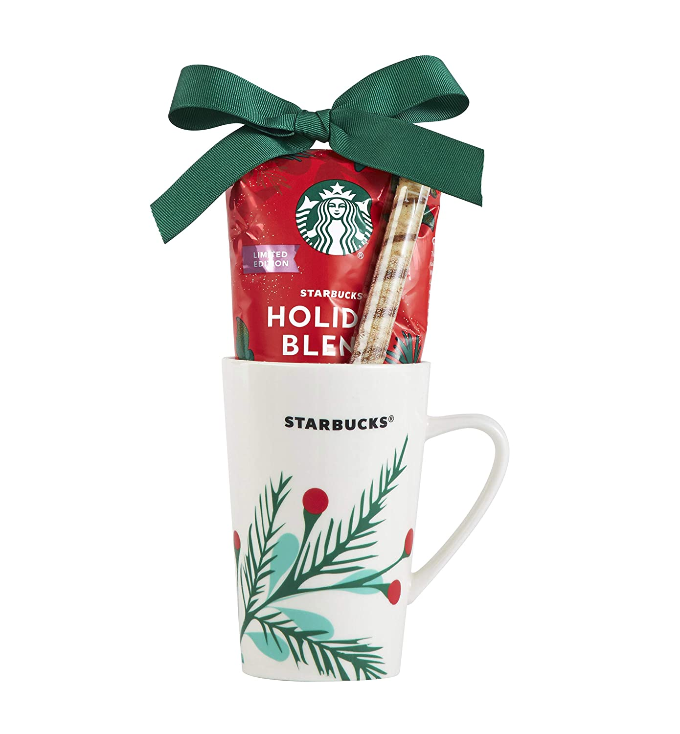 Starbucks Be Merry Holiday Coffee Gift Set, Includes Ceramic Mug and Holiday Blend Ground Coffee