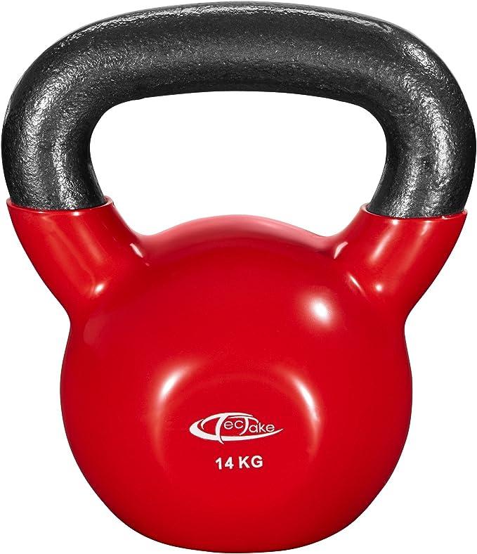 TecTake Kettlebell 4 kg /à 24 kg Gym Home Fitness Convient aux utilisateurs d/ébutants et avanc/és Poids en Fonte avec Surface en Vinyle