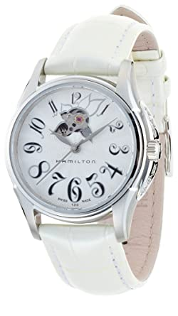 6e526878a Image Unavailable. Image not available for. Color: Hamilton Women's  Analogue Automatic Watch with Leather Strap H32365313