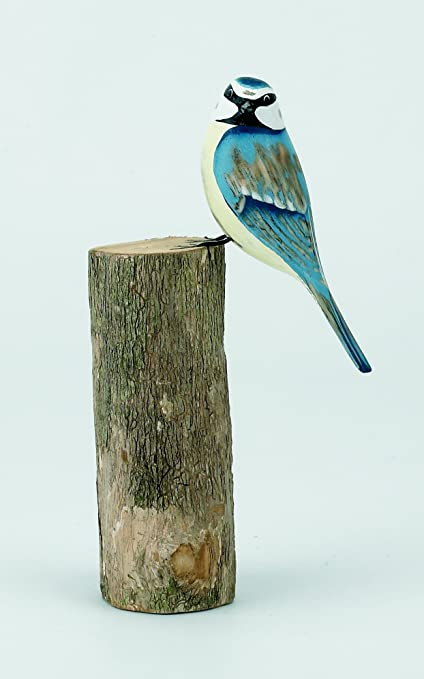 Archipelago Wood Carving Garden Birds Blue Tit D306 Amazonco