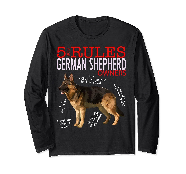 5 Rules for German Shepherd Owners Long Sleeve Shirt T-Shirt-alottee gift