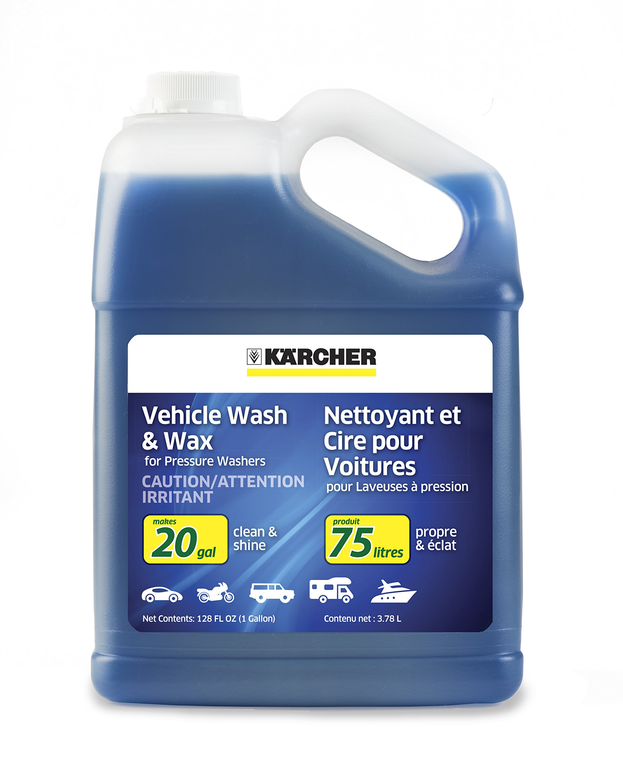 Karcher Car Wash & Wax Soap for Pressure Washers, 1 Gallon by Karcher