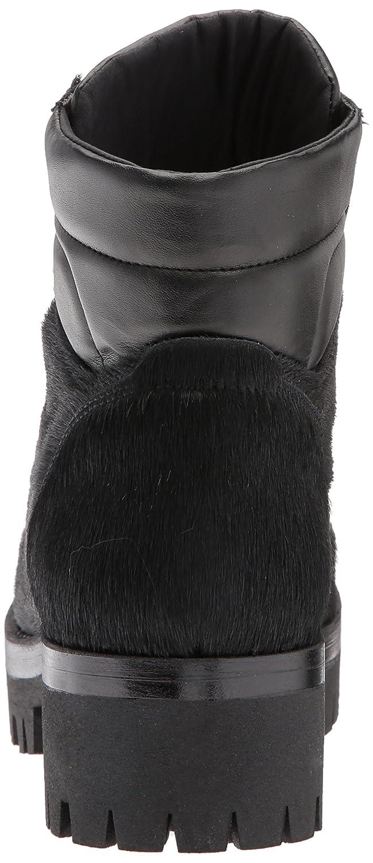 Shellys London Women's Tulle Combat Boot B06XH4S1C8 38 EU/7.5 M US|Black