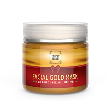 Anti Aging Gold Mask for Face & Neck | Luxury Firming Treatment Reduces Wrinkles | Powerful