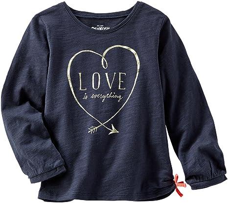 Carters OshKosh para ropa infantil para niñas Love lazo camiseta de manga larga