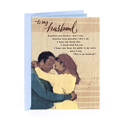 Amazon Hallmark Mahogany Religious Birthday Greeting Card For Husband My Rock Office Products