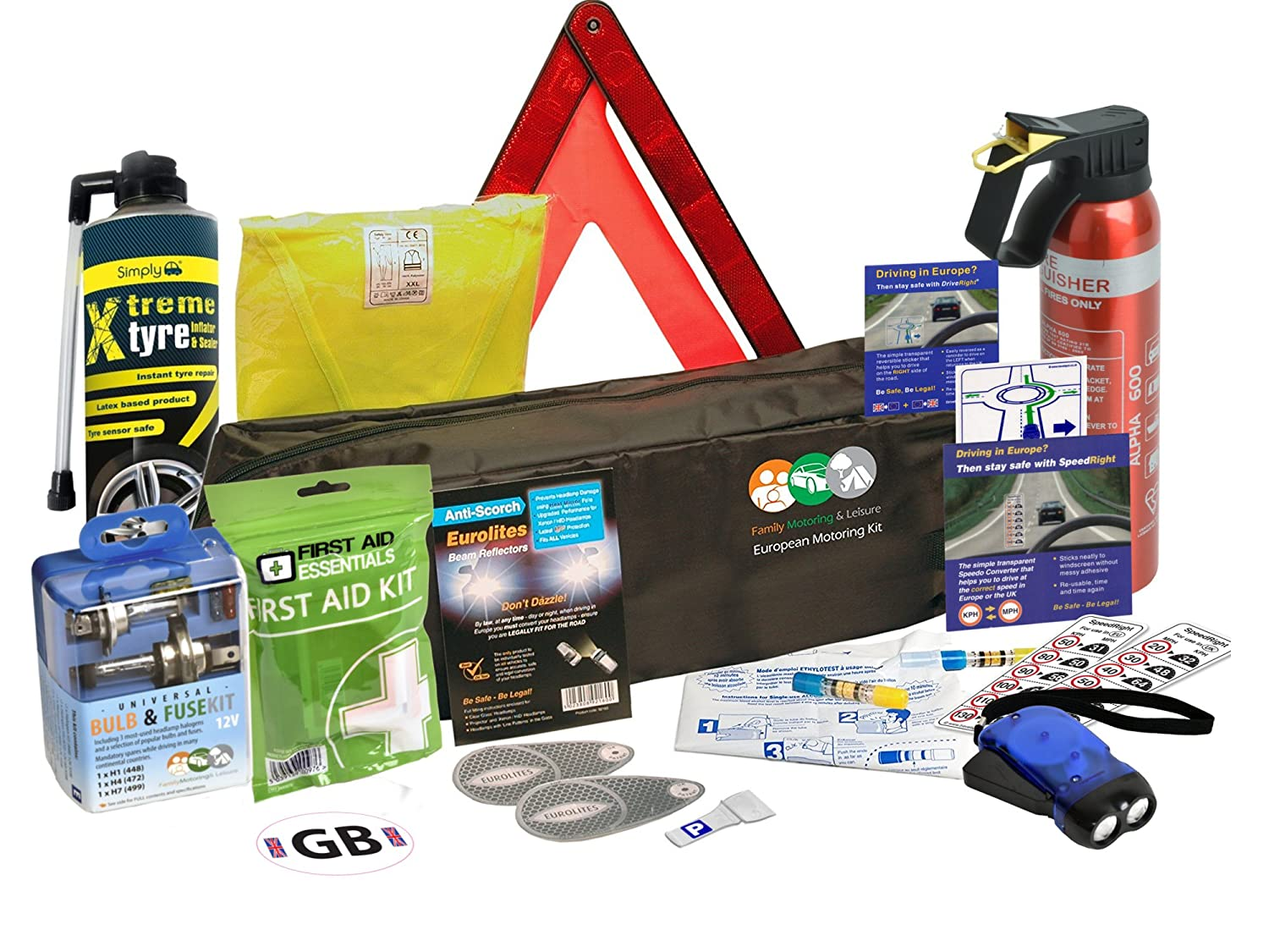 TOTAL TRAVEL DRIVING KIT FOR FRANCE WITH FRENCH BREATHALYSERS kt1