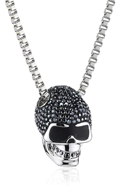 1a447d0051fe0 Swarovski Taddeo Skull Pendant: Amazon.co.uk: Jewellery