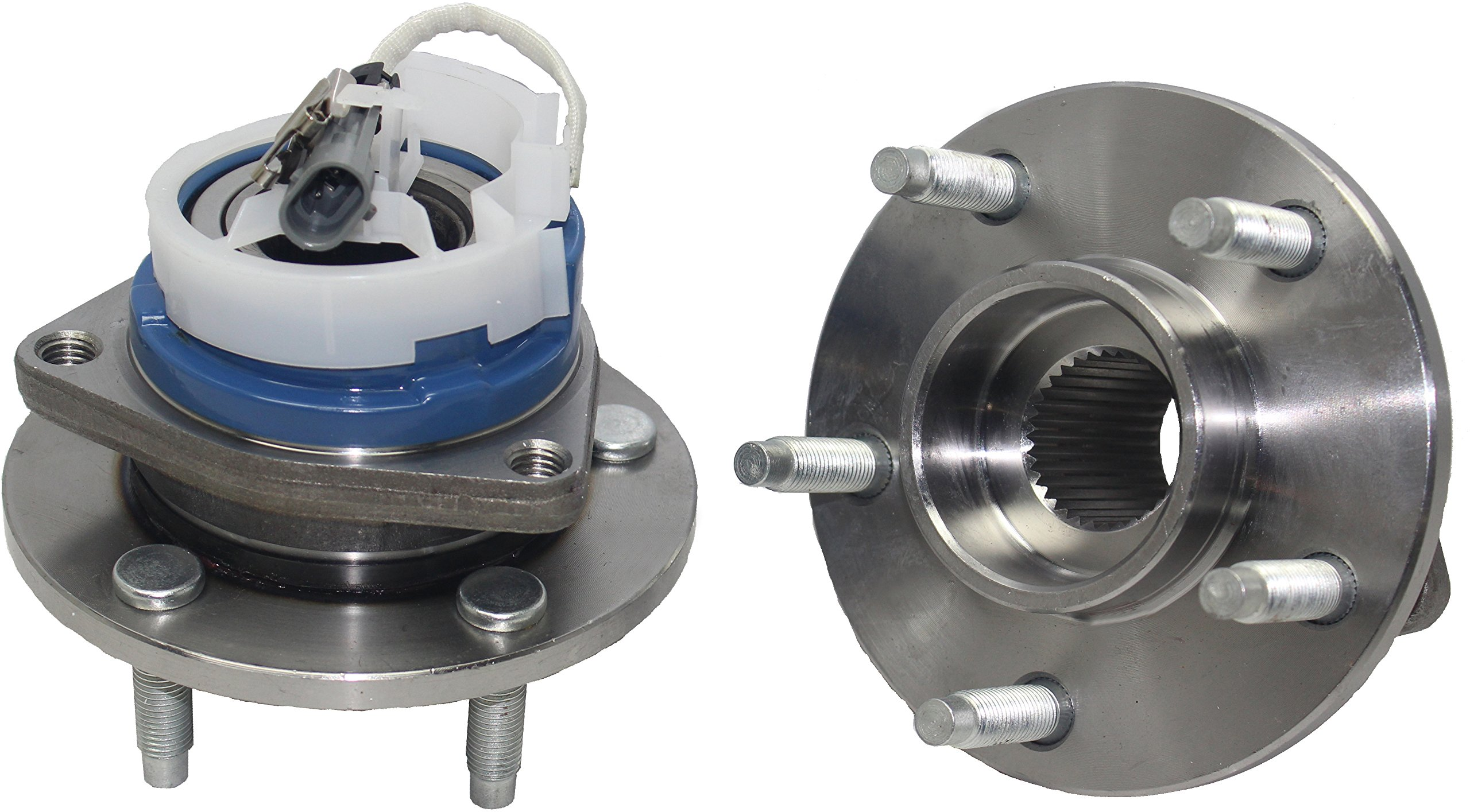 Brand New (Both) Front Wheel Hub and Bearing Assembly for Buick, Cadillac, Chevy, Oldsmobile, Pontiac 5 Lug W/ABS (Pair) 513179 x 2 by Detroit Axle