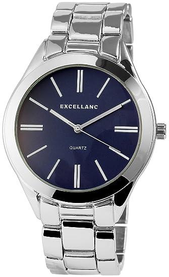 Reloj mujer azul plata metal Reloj de pulsera