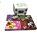 Japanese Mochi Variety Pack: Red Bean, Taro, Green Tea, and Lychee Royal Family Total 29.6oz - Packed in Fusion Select…