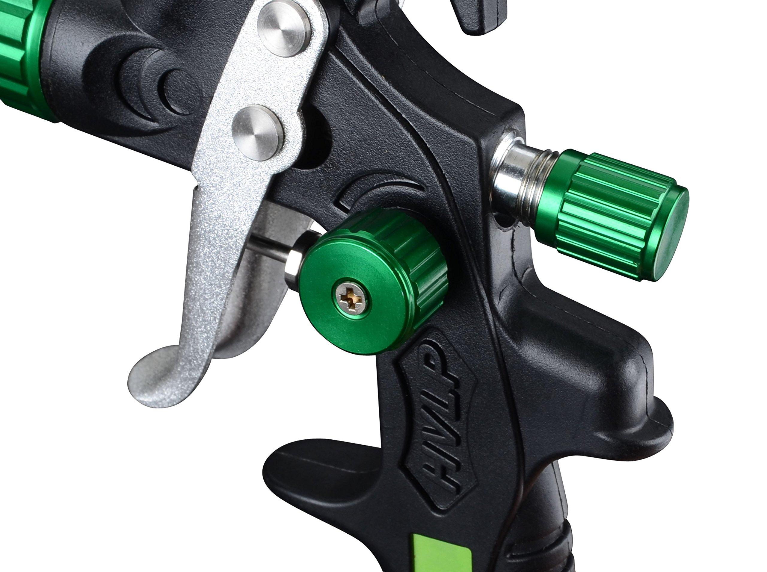 PowRyte Elite 4.2 Oz Composite Mini HVLP Gravity Feed Air Spray Gun - 0.8mm Nozzle by PowRyte (Image #4)