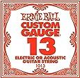 ERNIE BALL SIX PACK OF CUSTOM GAUGE 13 --1013 -- (P01013) --.013 Plain Steel -- 6 pack of strings