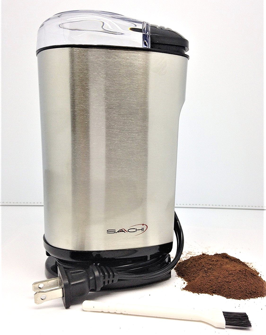 Saachi Electric Powerful Coffee and Spice Grinder, Full Stainless Steel Rust-free Body and Blades