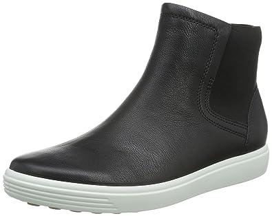 Ecco Footwear Womens Soft 7 Bootie Chelsea Boot, Black/Lion, 40 EU/