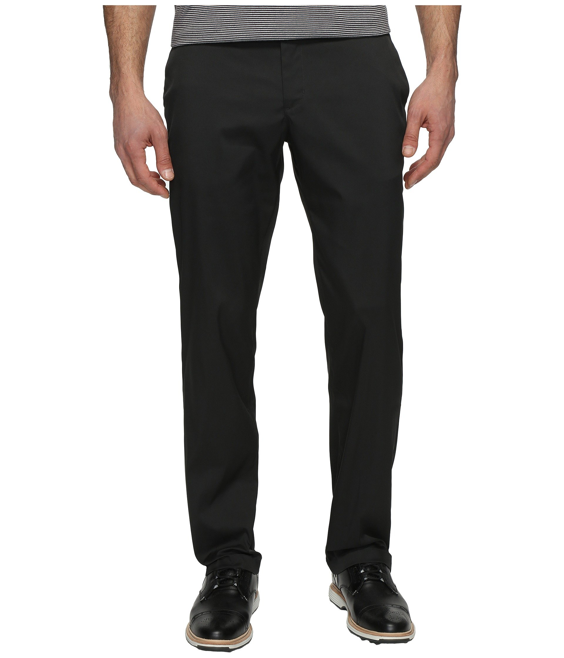 NIKE Men's Flat Front Golf Pants, Black/Black, Size 30/30 by NIKE