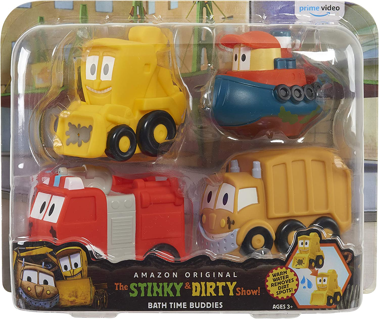 The Stinky & Dirty Show Bath Time Buddies 4 Piece Set - Amazon Exclusive