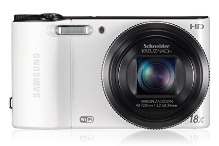 Samsung WB150F 14.2MP Point and Shoot Digital camera with 18x Optical Zoom (White) Point & Shoot Digital Cameras at amazon